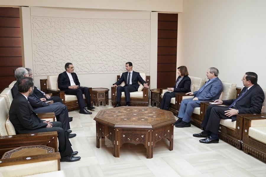 سفر جابریانصاری به دمشق و دیدار با بشار اسد (+عکس)
