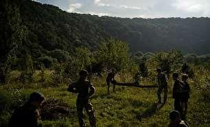 کمپ آموزش های نظامی برای کودکان در اوکراین (عکس)