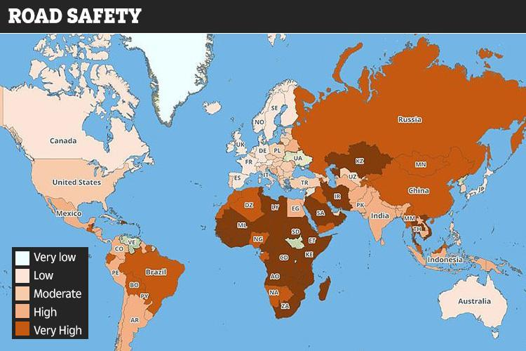 کشورهای ممنوعه/ خطرناکترین جادهها، سلامت و ایمنی در مناطق جهان/ به این کشورها سفر نکنید