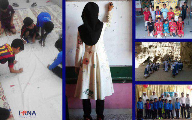 نقاشی دانش آموزان روی مانتوی خانم معلم (+عکس)