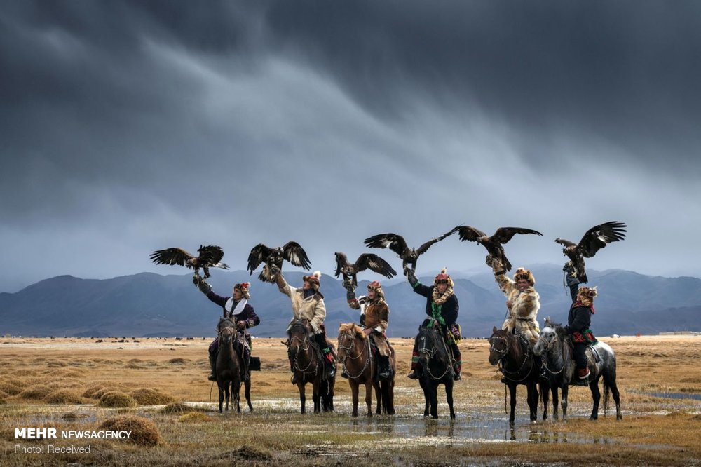 سوارکاران عقاب به دست مغولستان (عکس)