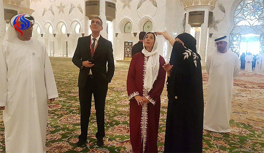 حضور وزیر اسرائیلی در مسجد شیخ زاید ابوظبی (عکس)