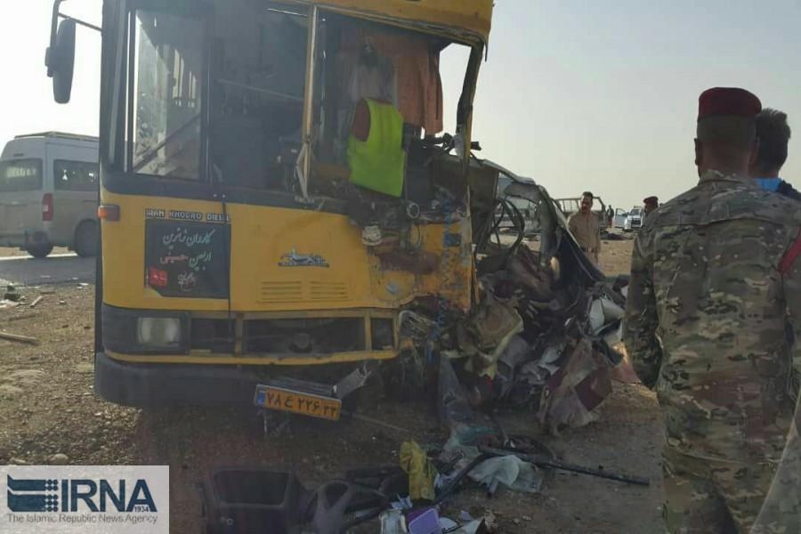 تصادف ون با اتوبوس/ 11 زائر ایرانی کشته شدند (+عکس)
