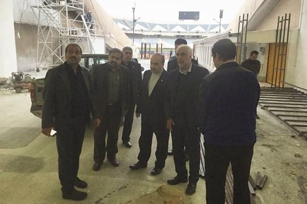 بازدید وزیر ورزش از مراحل آمادهسازی استادیوم آزادی (+عکس)
