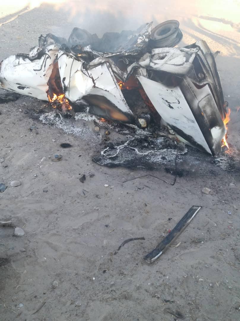 5 کشته در تصادف جاده سیستان و بلوچستان (+عکس)