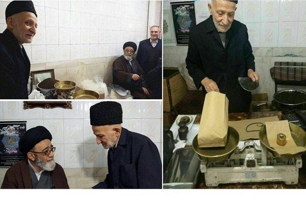امام جمعه تبریز در مغازه پیرمرد خبرساز این روزها (عکس)