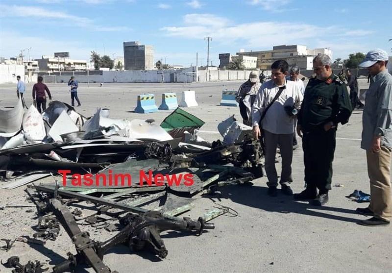 لاشه خودروی عامل انتحاری حمله تروریستی چابهار (+عکس)