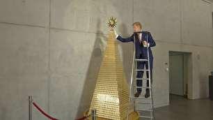 گران ترین درخت کریسمس ساخته شد (+عکس)