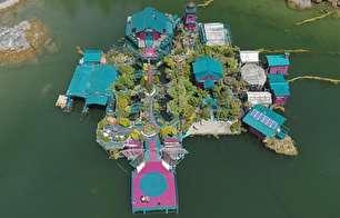 خانهای رویایی وسط دریاچه (+عکس)