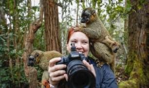 مزاحمت حیوانات برای عکاسان (عکس)