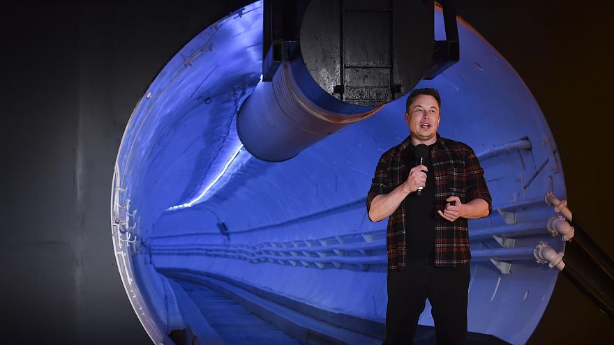 رونمایی از تونل زیرزمینی لس آنجلس برای حمل و نقل فوق سریع خودروها (فیلم و عکس)