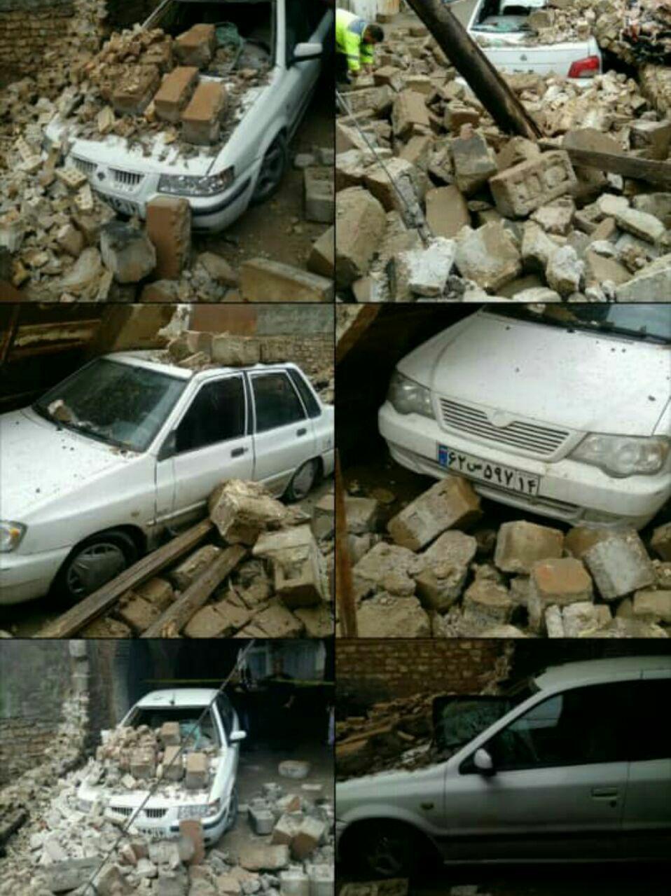 آسیب به برخی بناهای خوزستان بر اثر بارندگی (+عکس)