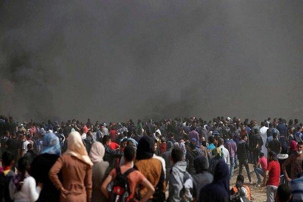 شهادت یک فلسطینی و دهها زخمی در تظاهرات بازگشت