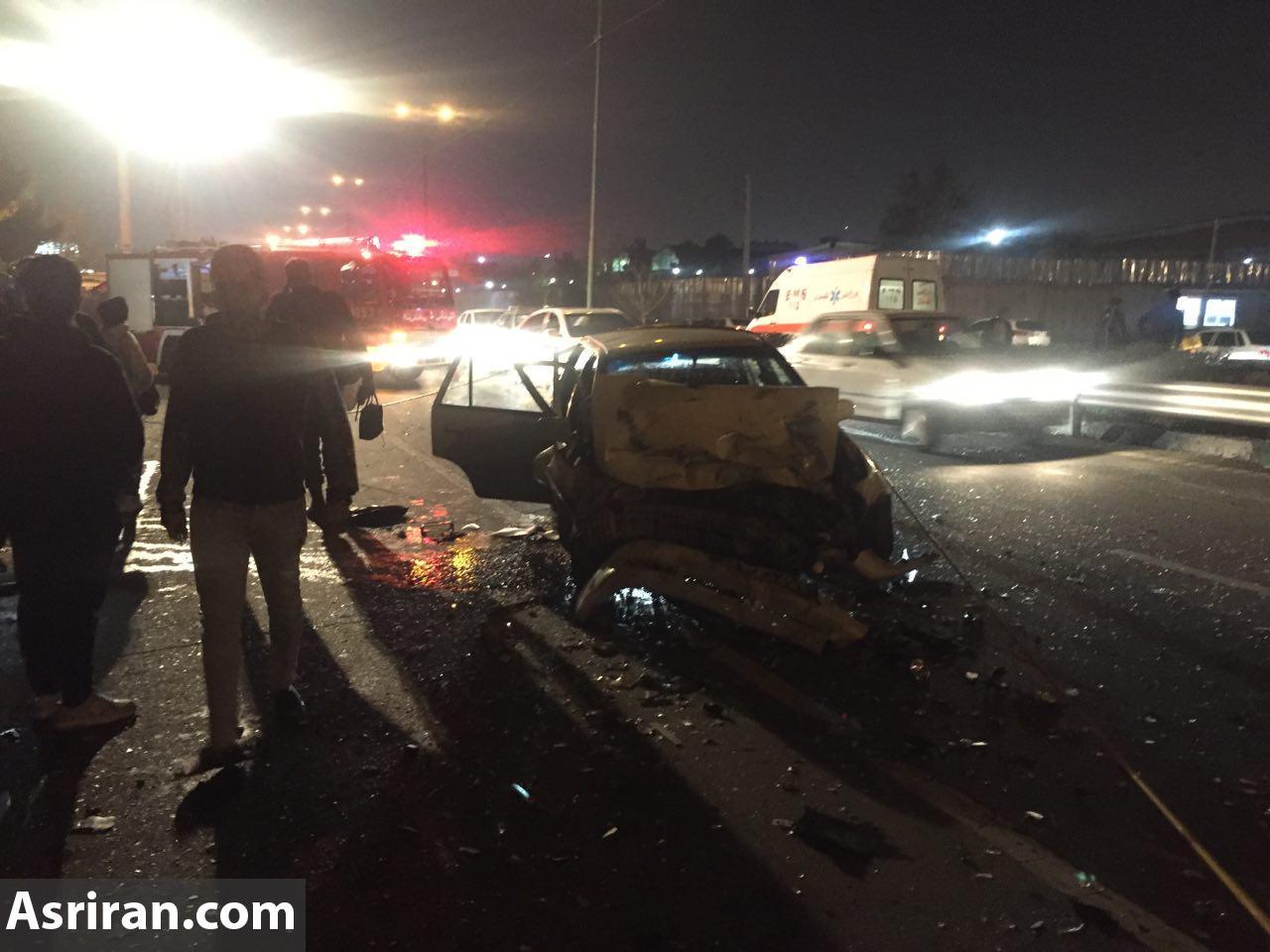 تصادف سنگین چندین خودرو در تهران  تعدادی کشته و زخمی  برجا گذاشت (+عکس)