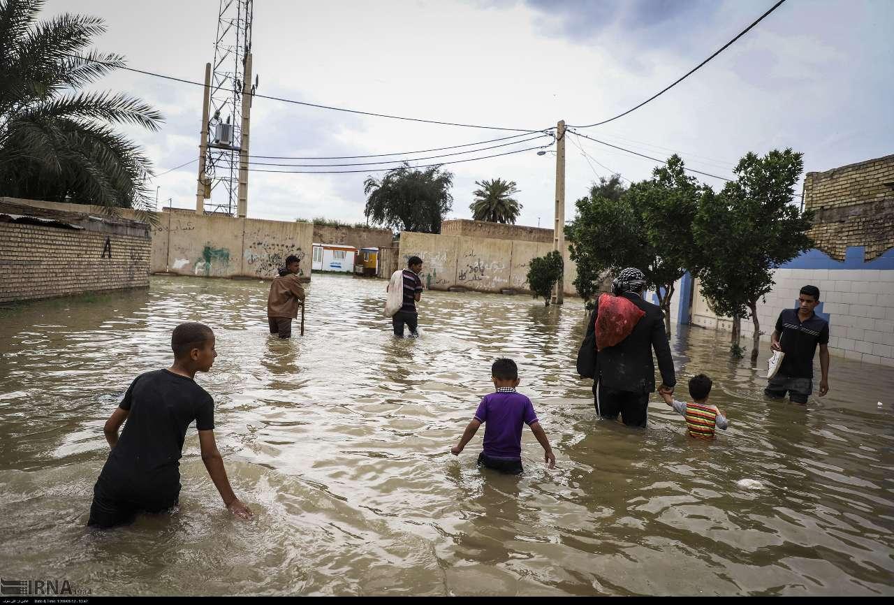 بامدژ خوزستان به زیر آب رفت (+عکس)