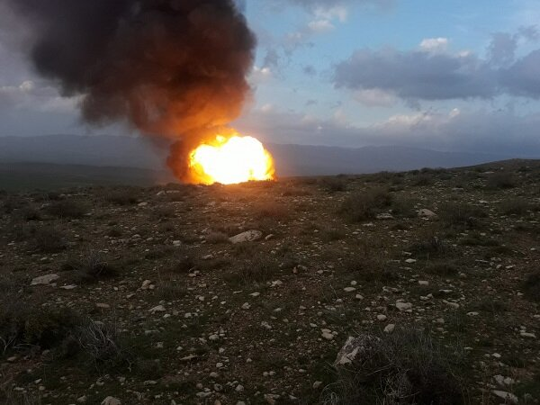انفجار لوله انتقال گاز اتیلن غرب در کرمانشاه