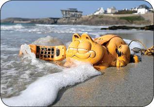 برملا شدن راز تلفن های گارفیلدی در ساحل