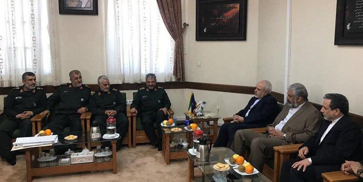 دیدار ظریف با فرماندهان عالی رتبه سپاه