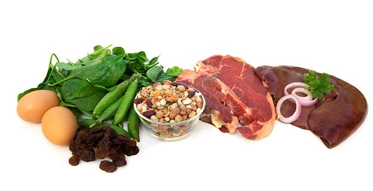 درمان کم خونی با غذای آهن دار