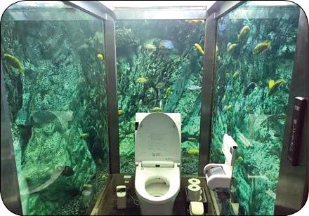 دستشویی آکواریومی! (+عکس)