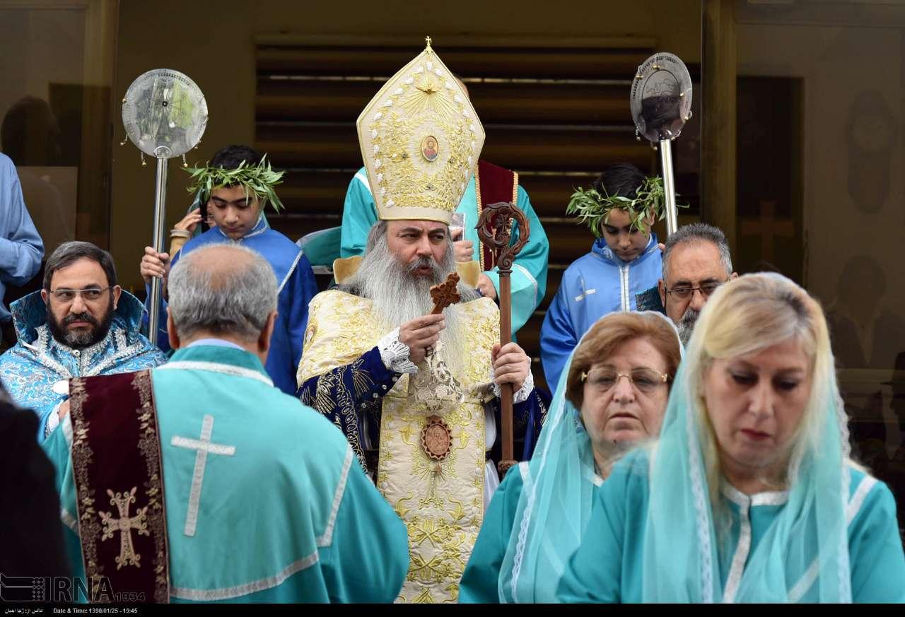 مراسم «یکشنبه نخل» در کلیسای گریگور مقدس تهران (عکس)