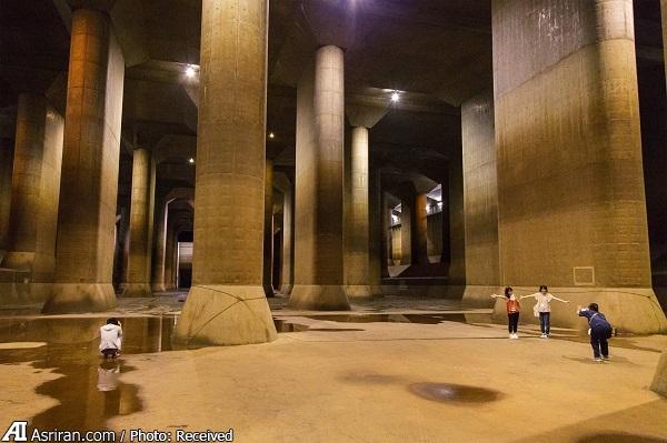 ژاپن و سازه ضد سیل که مجسمه آزادی و شاتل فضای در آن جا می شود! (+فیلم/تصاور)
