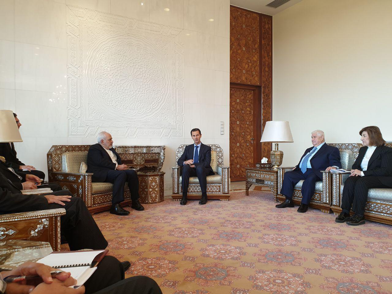 دیدار ظریف و بشار اسد در دمشق (عکس)