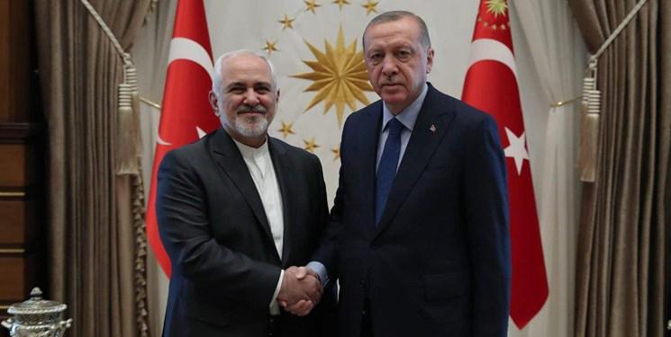 دیدار ظریف با اردوغان (+عکس)