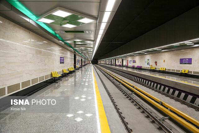 حادثه در مترو اصفهان/ تلاش برای بازگرداندن قطار به خط