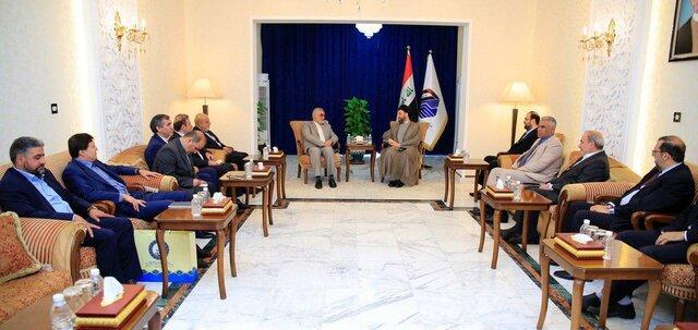 رایزنی حکیم و بروجردی در مورد تازهترین تحولات سیاسی عراق و منطقه در بغداد