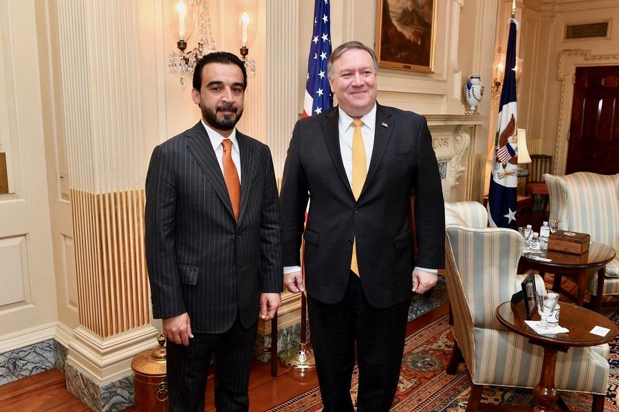 دیدار رئیس مجلس عراق با وزیر خارجه آمریکا