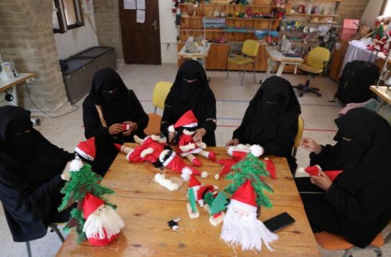 زنان مسلمان غزه در کریسمس