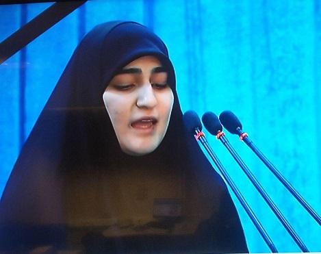 سخنرانی زینب سلیمانی در محضر رهبر انقلاب: پدرم بزرگترین مرد راهبردی در محاسبه قدرت بود