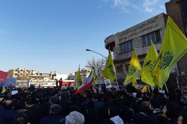 حضور اعضای کتائب حزب الله عراق در مراسم تشییع شهید سلیمانی درتهران