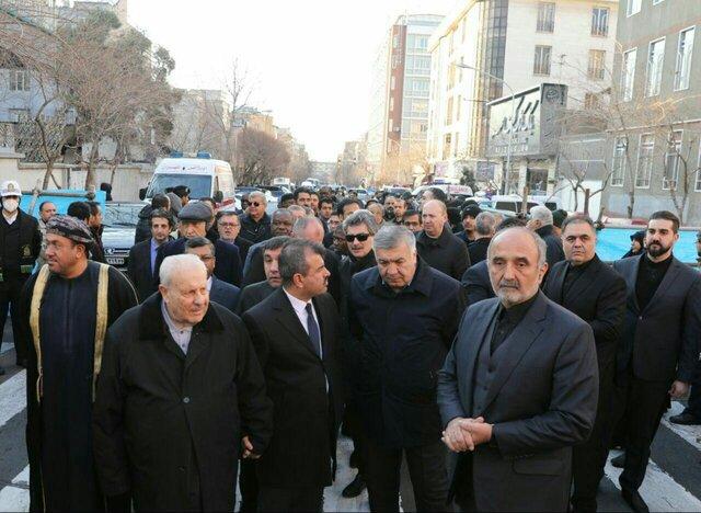 حضور سفرای ترکیه، سوریه، عراق، فلسطین و افغانستان در مراسم تشییع سردار سلیمانی