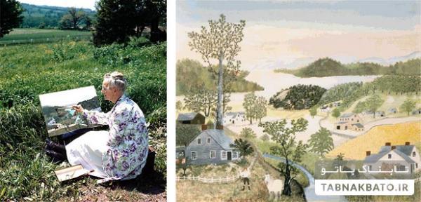 شکوفایی استعداد نقاشی مادربزرگ در 80 سالگی (+عکس)