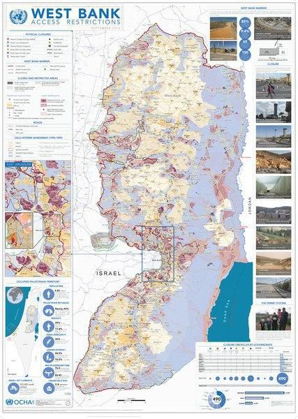 مناطق شهرک سازی اسرائیل در کرانه باختری