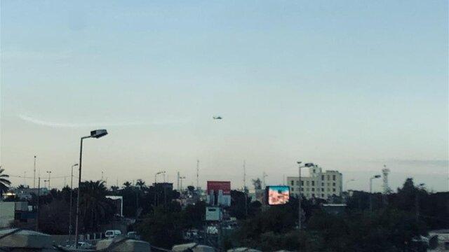 پرواز گسترده پهپادها و بالگردها بر فراز بغداد/ آماده باش گروههای مقاومت عراق