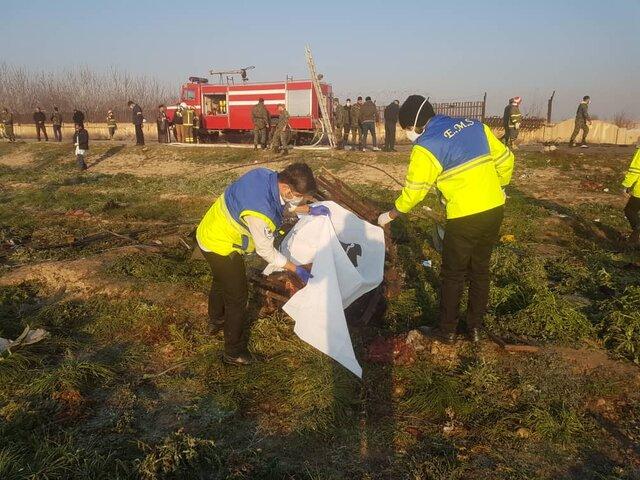 سقوط هواپیمای اوکراینی در نزدیکی فرودگاه امام