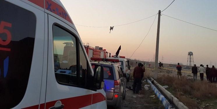 انتقال اجساد سقوط هواپیما به پزشکی قانونی