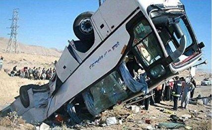 19 کشته در سقوط اتوبوس به دره در جاده سوادکوه/علت واژگونی: نقص ترمز