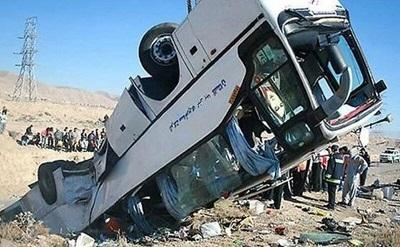 علت واژگونی اتوبوس درجاده سوادکوه، نقص فنی اعلام شد