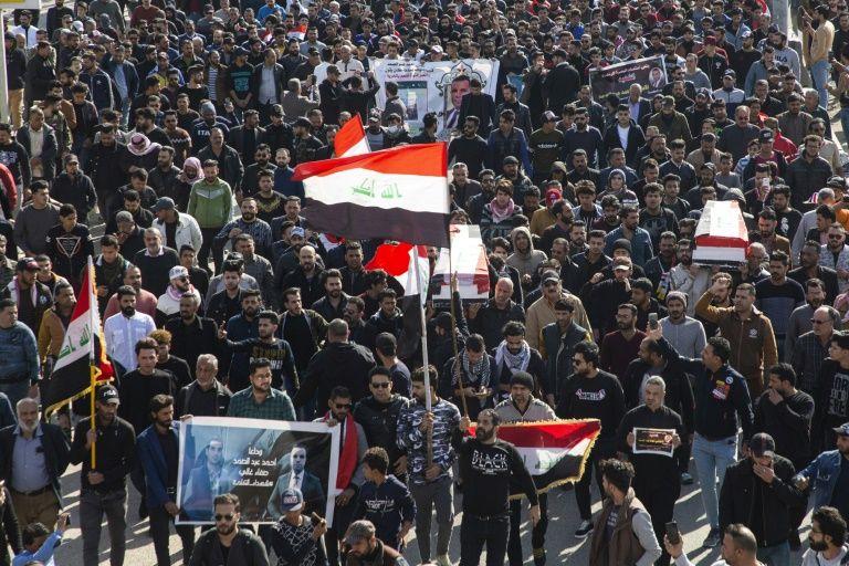قتل روزنامه نگاران عراق تظاهرات
