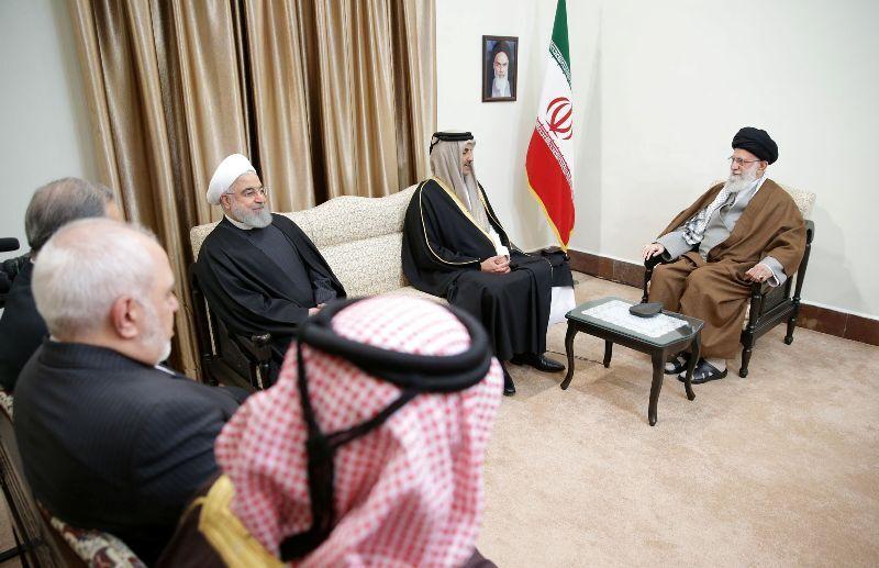 دیدار امیر قطر با مقام معظم رهبری (عکس)