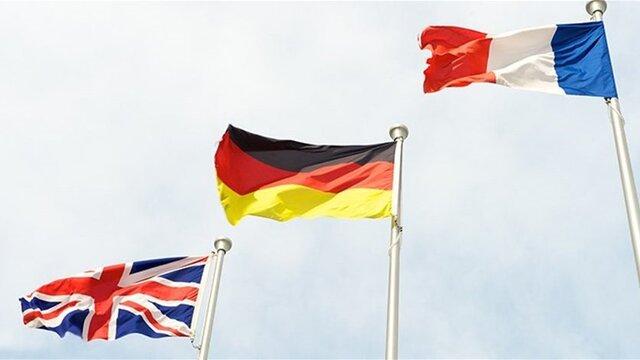 درخواست فرانسه، آلمان و انگلیس از ایران برای پایبندی کامل به توافق هستهای