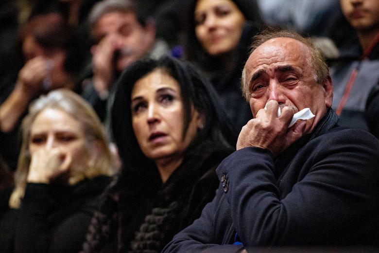 مراسم یابود کشته شدگان هواپیمای اوکراین
