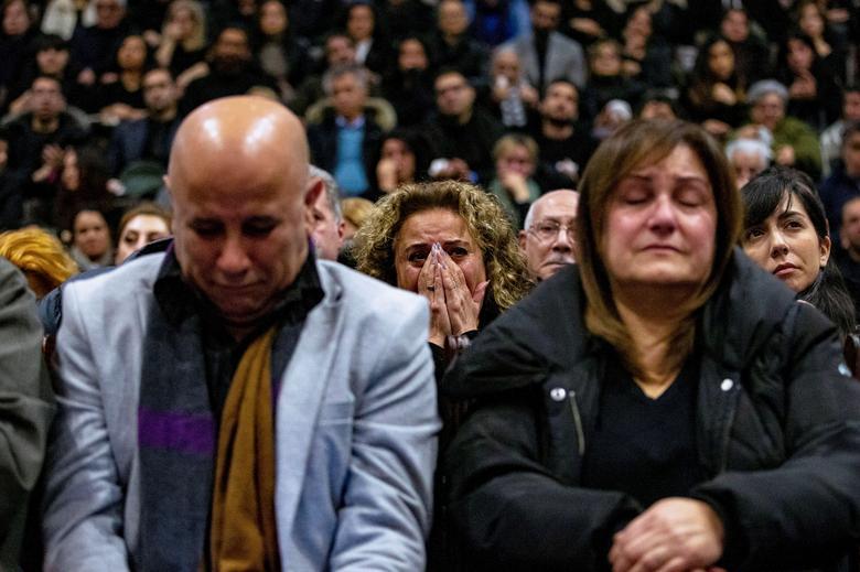 گردهمایی شهروندان ایرانی در سوگ  کشته های هواپیمای اوکراین