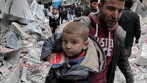 حمل روسیه و سوریه به ادلب