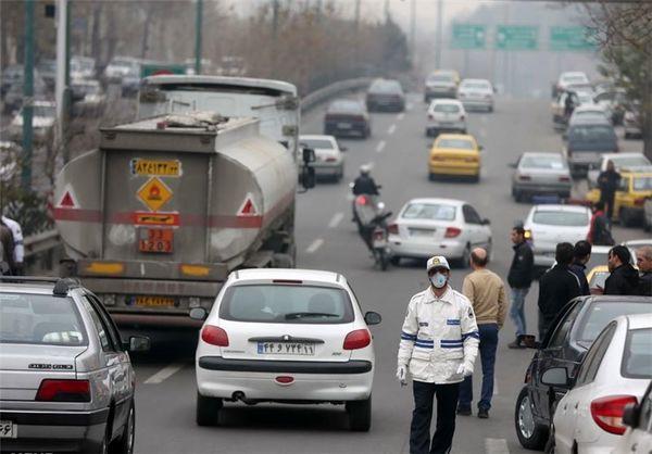 مصدومیت تعدادی از ماموران راهور به دلیل آلودگی هوا