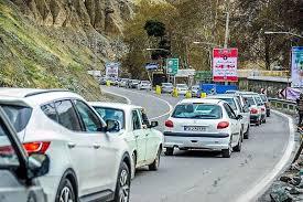 تردد وسایل نقلیه از کرج به چالوس ممنوع شد